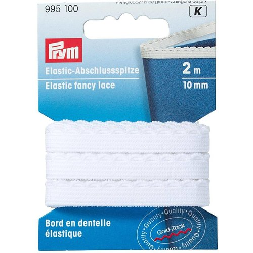 Prym Prym Kantelastiek 10 mm Wit 2 meter