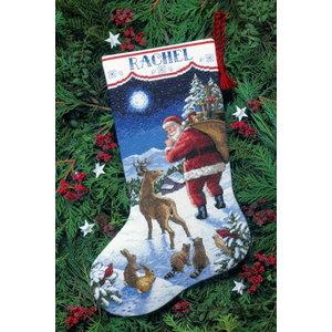 Dimensions Dimensions Borduurpakket Kerstsok Santa's Arrival 8683