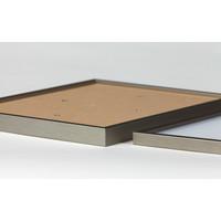 Pixelhobby lijst hout walnoot 4 kleine basisplaten