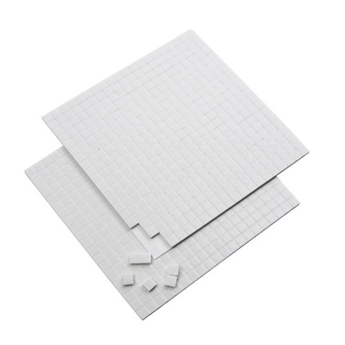 Creotime 3D foam pads 5 x 5 x 2 mm wit 2 vellen
