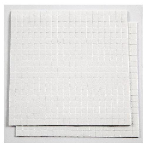 Creotime 3D foam pads 5 x 5 x 1 mm wit 2 vellen