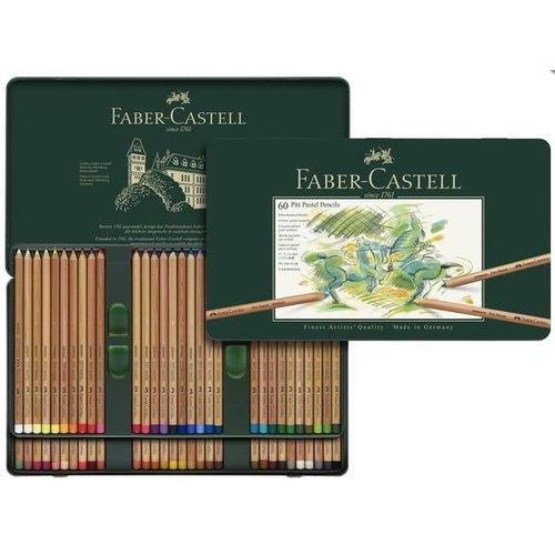 Faber Castell Pastelpotlood Faber-Castell Pitt metalen etui a 60 stuks