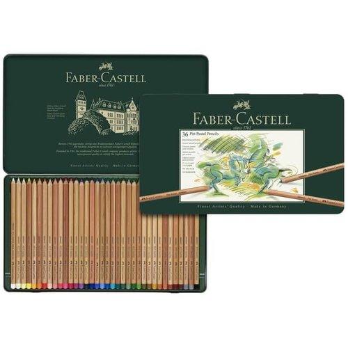 Faber Castell Pastelpotlood Faber-Castell Pitt metalen etui a 36 stuks
