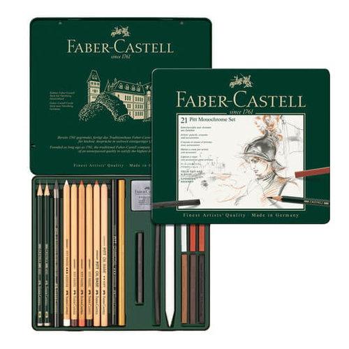 Faber Castell Pitt Monochrome set Faber-Castell 21-delig medium