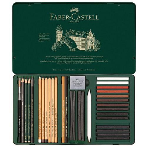 Faber Castell Pitt Monochrome set Faber-Castell 33-delig groot