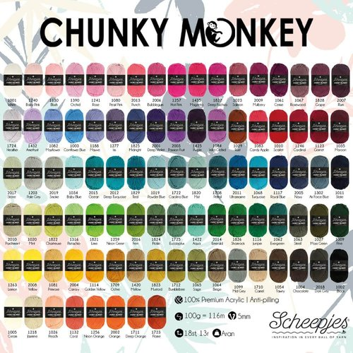 Scheepjeswol Scheepjes Chunky Monkey 100 gram 2018 Dark Grey
