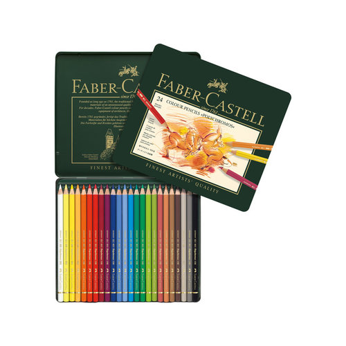 Faber Castell Faber Castell kleurpotlood Polychromos etui à 24 stuks