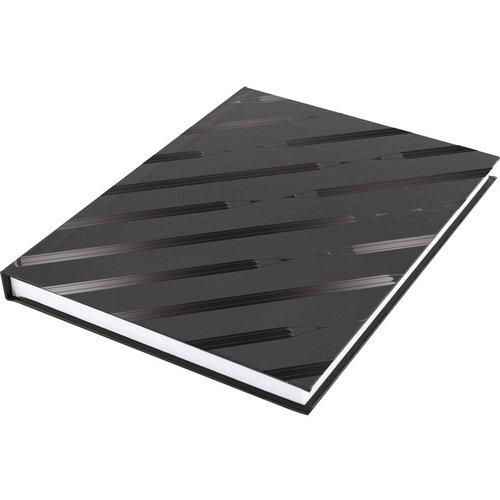 Kangaro Dummyboek Kangaro A5 blanco hard cover 80 blad 140grs zwart design