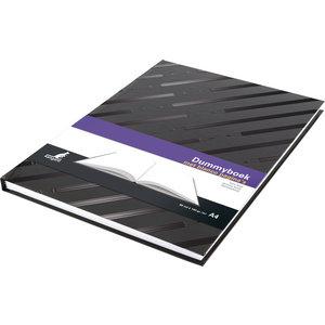 Kangaro Dummyboek Kangaro A4 blanco hard cover 80 blad 140grs zwart design
