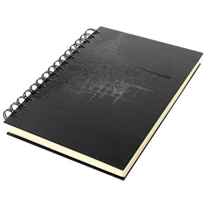 Dummyboek A5 Wire-o cream hard cover 80 blad 140grs zwart design