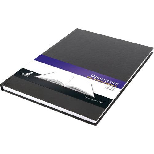 Kangaro Dummyboek A4 blanco hard cover 80 blad 100grs zwart