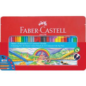Faber Castell Cadeauset Faber-Castell 53-delig in metalen doos