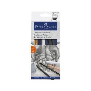 Faber Castell Houtskoolset Faber-Castell 7-delig
