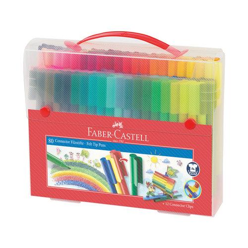 Faber Castell Faber-Castell cadeauset Connector koffer 80 stuks
