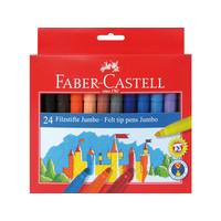 Viltstiften Faber Castell Jumbo 24 stuks karton etui