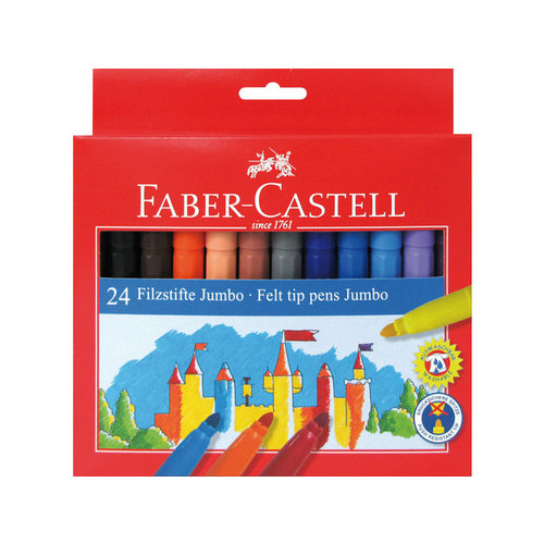 Faber Castell Viltstiften Faber Castell Jumbo 24 stuks karton etui