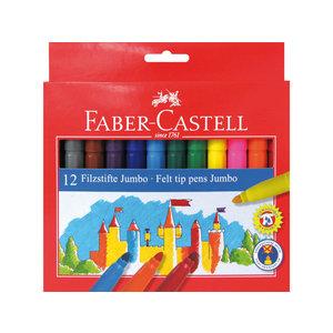 Faber Castell Viltstiften Faber Castell Jumbo 12 stuks karton etui