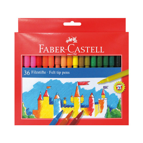 Faber Castell Viltstiften Faber Castell 36 stuks karton etui