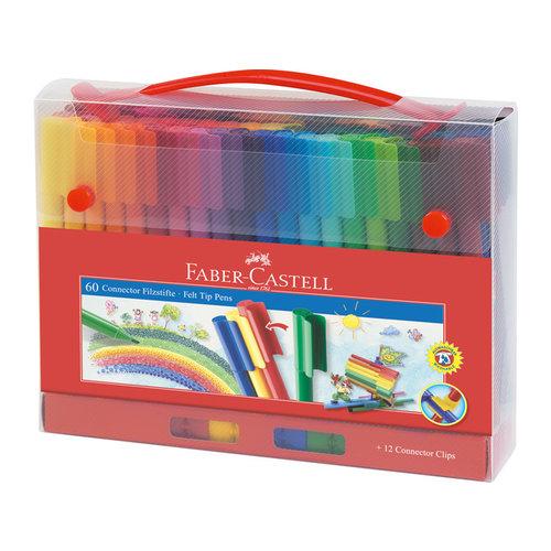 Faber Castell Faber-Castell Viltstiften Connector koffer 60 stuks
