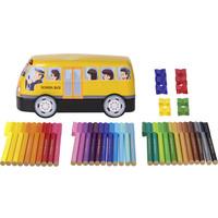 Faber-Castell Viltstiften  Connector 33 stuks met 10 clips   in 'bus'
