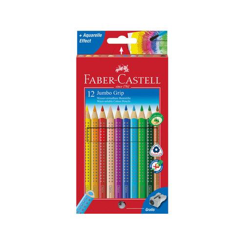 Faber Castell Kleurpotlood Faber Castell Jumbo GRIP etui à 12 stuks