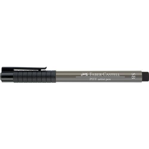Faber Castell Tekenstift Faber-Castell Pitt Artist Pen Soft Brush 273 warm grijs IV