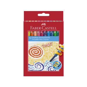 Faber Castell Waskrijt Faber-Castell draaibaar 12 stuks