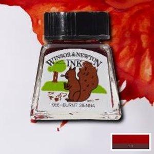 Winsor & Newton Winsor & Newton Ink 14ml Burnt Sienna