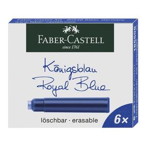 Faber Castell inktpatronen Faber-Castell blauw doosje a 6 stuks