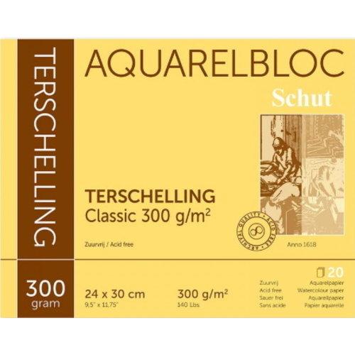 Schut   Schut Terschelling Aquarelblok Classic 24x30cm 300 gram 20 vel