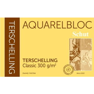 Schut   Schut Terschelling Aquarelblok Classic 30x30cm 300 gram 20 vel