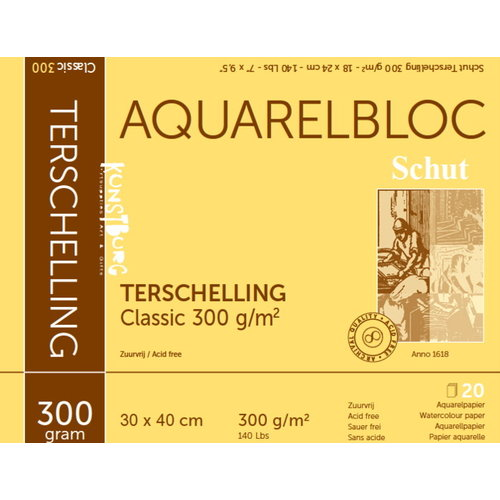Schut   Schut Terschelling Aquarelblok Classic 40x50cm 300 gram 20 vel