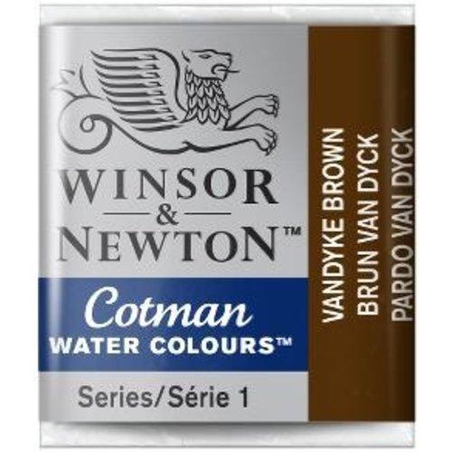 Winsor & Newton W&N Cotman Waterverf Half Napje VANDYKE BROW