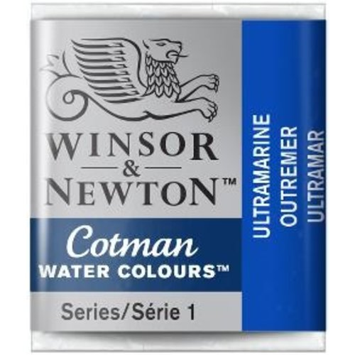 Winsor & Newton W&N Cotman Waterverf Half Napje ULTRAMARINE
