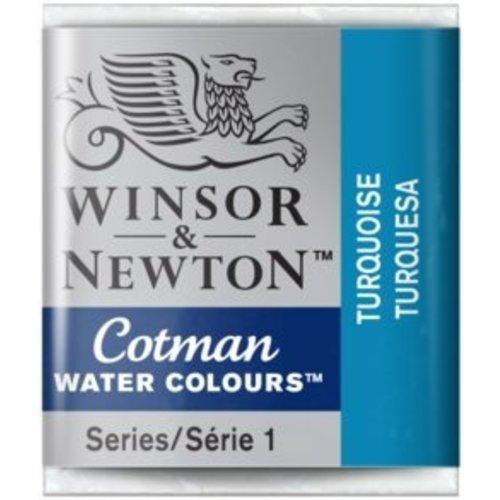 Winsor & Newton W&N Cotman Waterverf Half Napje TURQUOISE