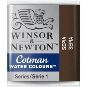 Winsor & Newton W&N Cotman Waterverf Half Napje SEPIA