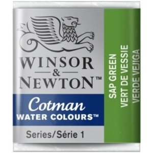 Winsor & Newton W&N Cotman Waterverf Half Napje SAP GREEN
