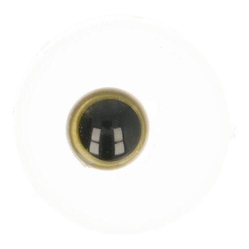 Dierenogen Zwart en helder Goud 8 mm