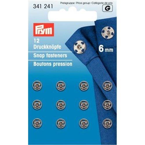 Prym Aannaaidrukknopen 6 mm zilver