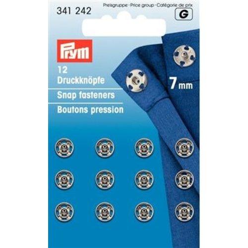Prym Aannaaidrukknopen 7 mm zilver