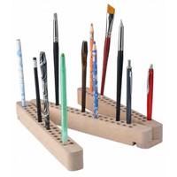 Houten houder voor penselen en potloden