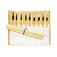 Penselenmat bamboe 33x33cm naturel