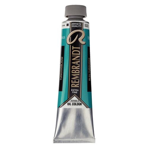 REMBRANDT Rembrandt Olieverf Tube 40 ml Turkooisblauw 522