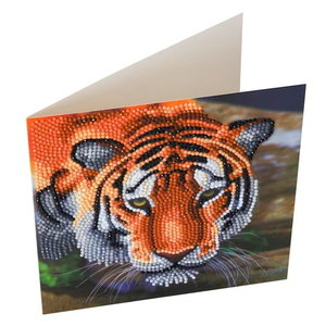 Crystal Art Diamond Painting kaart Tijger CCK-A40