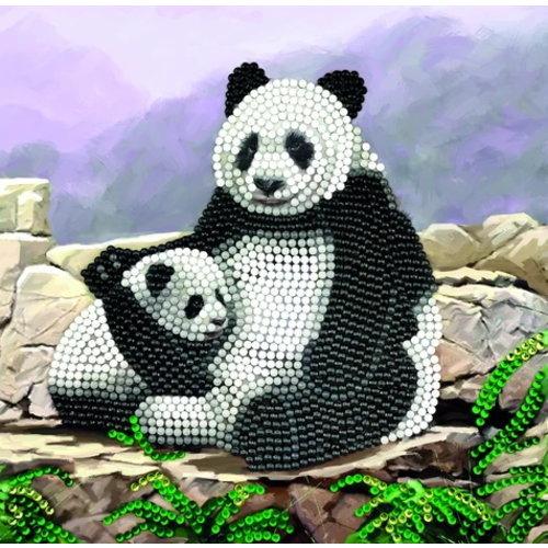 Crystal Art Diamond Painting Kaart Panda CCK-A44