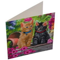 Diamond Painting Kaart Poezen CCK-A53
