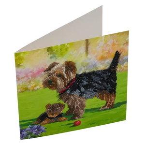 Crystal Art Diamond Painting Kaart Yorkshire Terrier CCK-A46