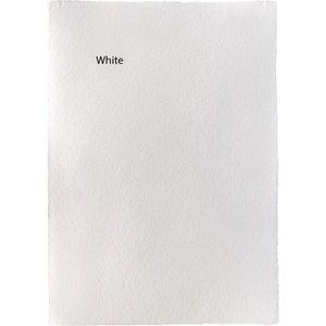 Handgeschept papier 400 gram B4 wit 5 vellen