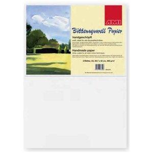 Handgeschept aquarelpapier 250 gram 50 x 70 cm 3 vellen
