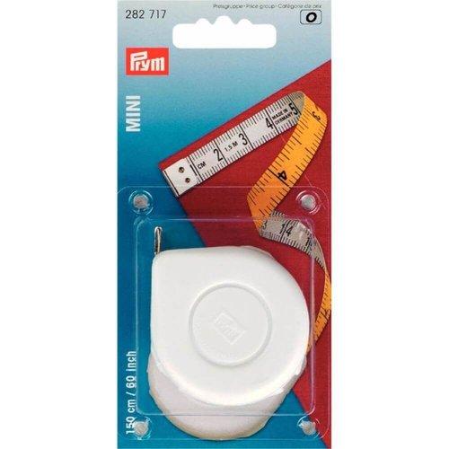 Prym Prym Rolcentimeter mini geel-wit 150 cm